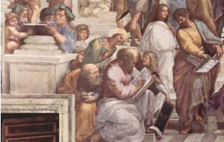 Pythagore peint dans l'école d'Athènes